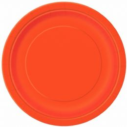 Halloween Party Food Paper Plates 16 x 23cm Orange Premium Party Paper Plate
